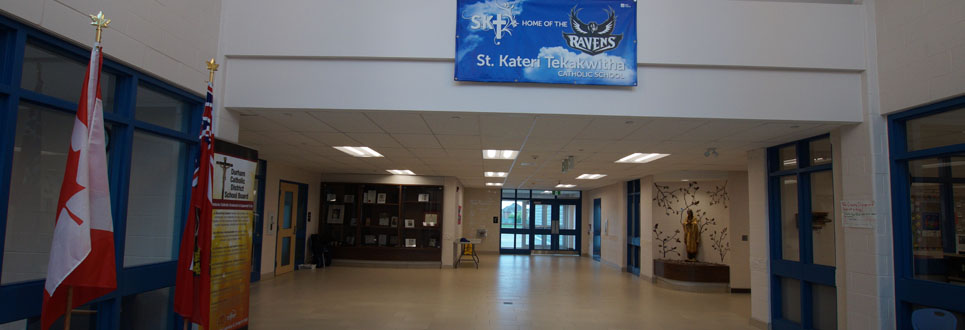 front lobby of elementary school